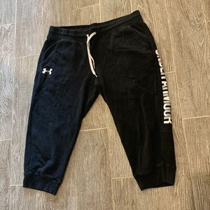 Under armour cropped sweat pants men's xl